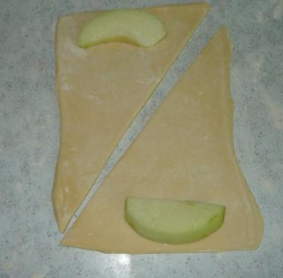 put a slice of apple